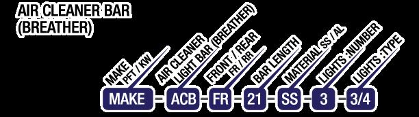 Air Cleaner Light Bars 12 Gauge Custom